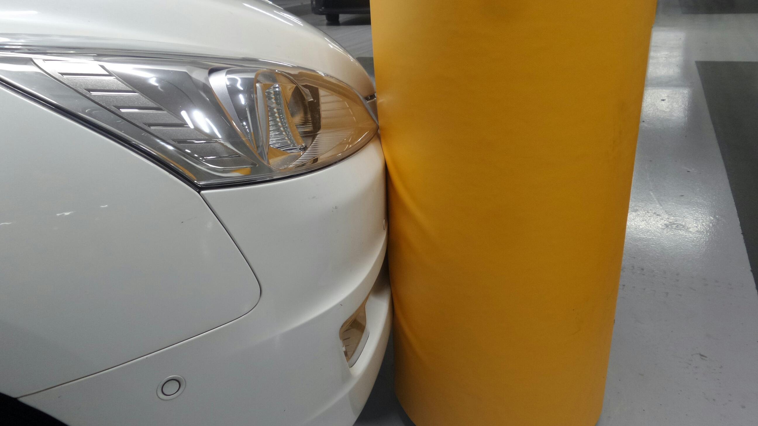Schrumpf Kolombeschermer-detail met auto