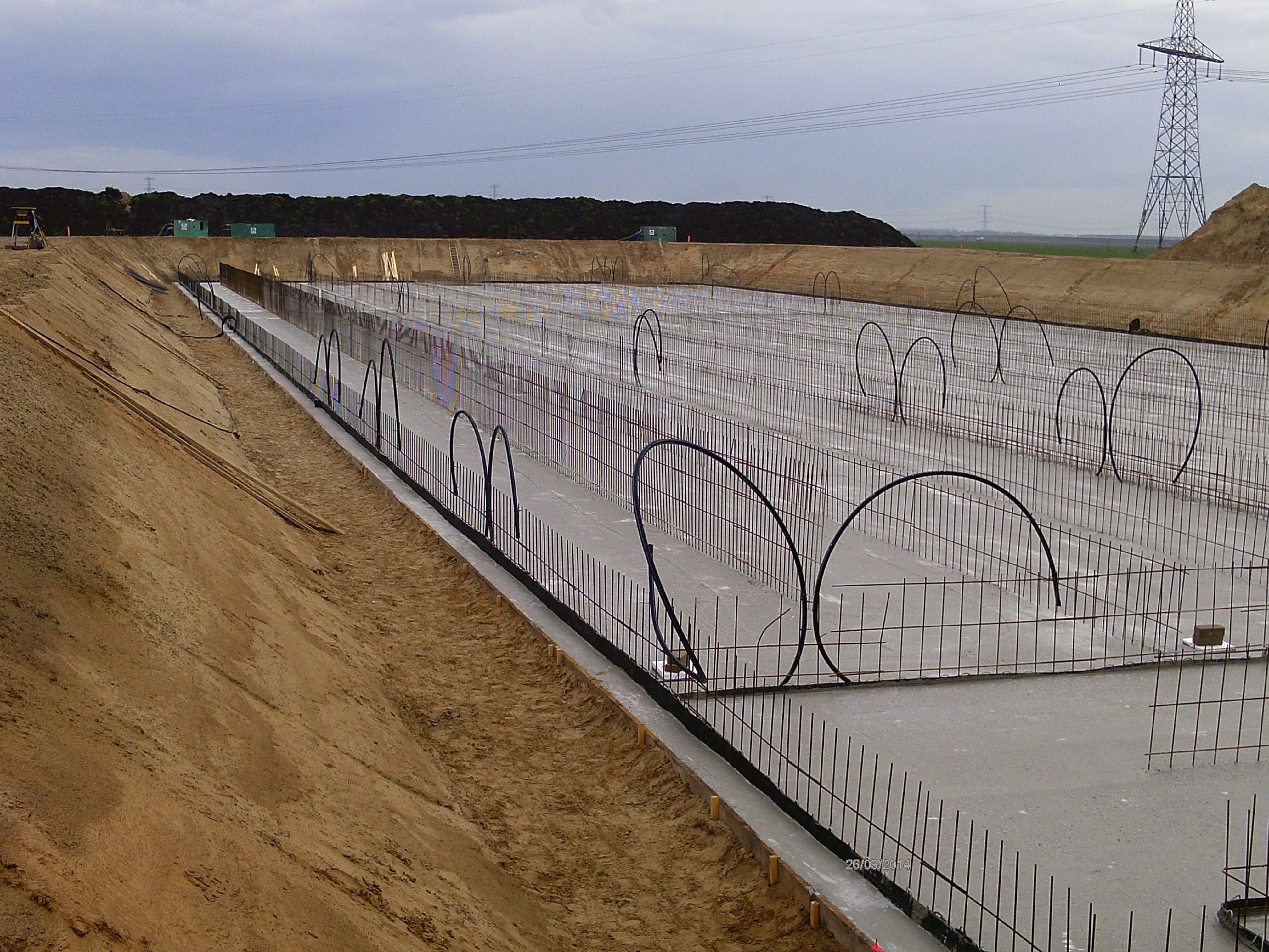 Schrumpf toepassing stortvoegenband SFA-10 bij mestkelder